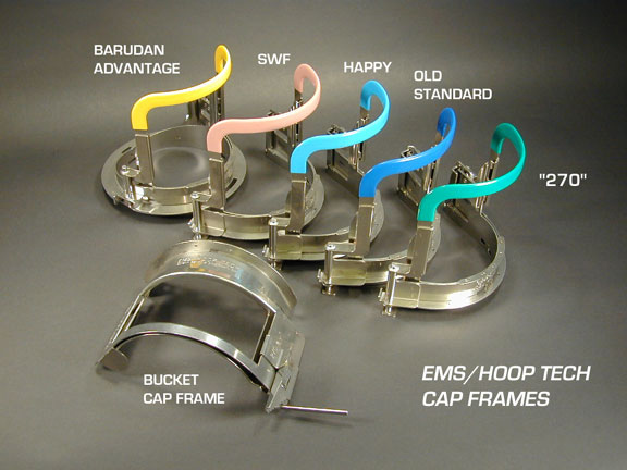 EMS Hoop Tech Cap Frame, Fits Melco, Tajima, Barudan, SWF, Happy, Brother Embroidery Machines