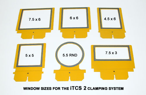 Large Chassis Windows For Hoop Tech Clamping System For Melco, Tajima, Barudan, SWF, Happy Embroidery Machines